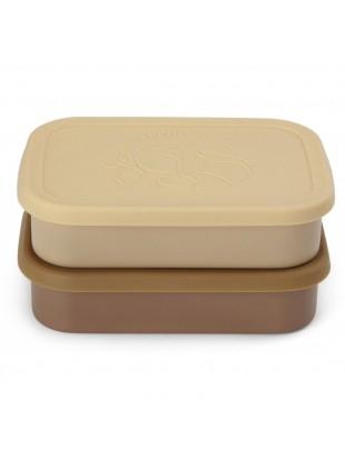 Konges Sløjd Edelstahl Lunchbox Frühstücksbox Set Vanilla