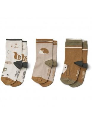 Liewood Socken 3er Pack Silas Friendship Sandy Mix