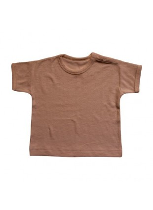 The Simple Folk Baby-Shirt Boxy Frottee Cinnamon