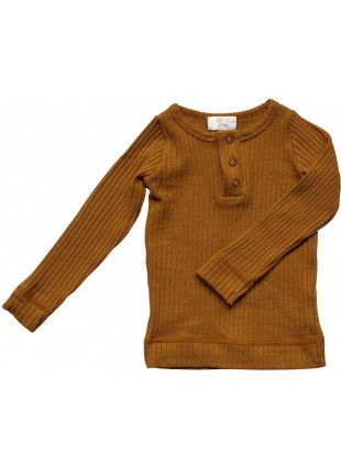 The Simple Folk Baby-Langarmshirt Ribbed Bronze