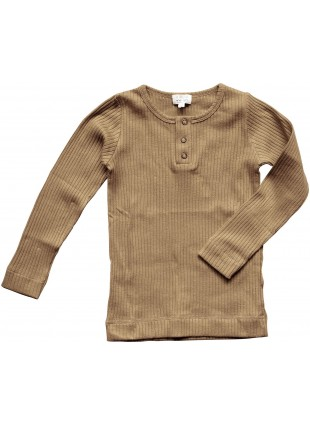 The Simple Folk Baby-Langarmshirt Ribbed Camel