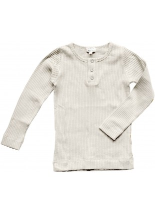The Simple Folk Baby-Langarmshirt Ribbed Ecru