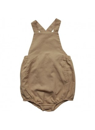 The Simple Folk Baby-Romper Leinen Camel
