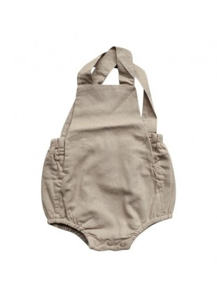 The Simple Folk Baby-Romper Leinen Oatmeal