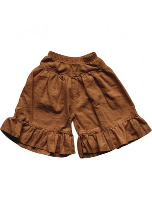 The Simple Folk Baby-Hose Ruffle Culotte Rust
