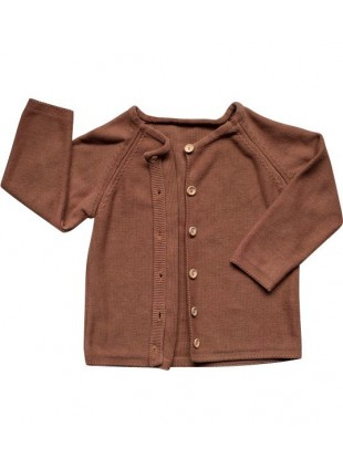 The Simple Folk Baby-Strickjacke Daily Mocha