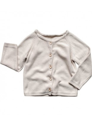 The Simple Folk Baby-Strickjacke Daily Oatmeal