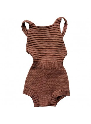 The Simple Folk Baby-Romper Strick Mocha
