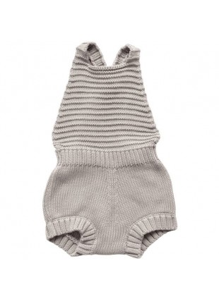 The Simple Folk Baby-Romper Strick Oatmeal