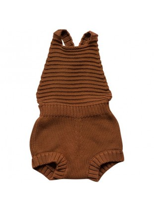 The Simple Folk Baby-Romper Strick Rust