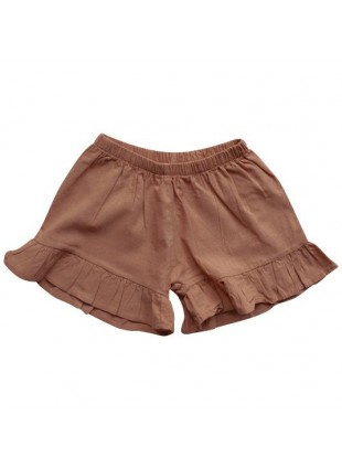 The Simple Folk Baby-Hose Leinen Frill Cinnamon