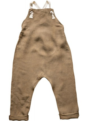 The Simple Folk Baby-Latzhose Leinen Camel
