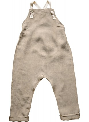 The Simple Folk Baby-Latzhose Leinen Oatmeal