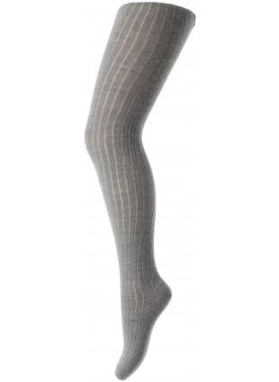 mp Denmark Strumpfhose Baumwolle Rib Grey Melange