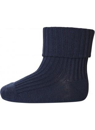 mp Denmark Strümpfe Baumwolle Rib Indigo Blue