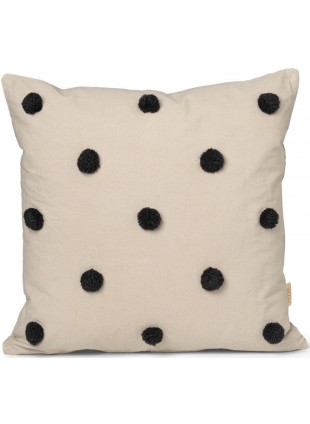 Ferm Living Kissen Dot Tufted Sand - Black