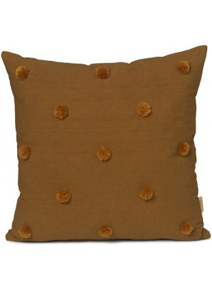 Ferm Living Kissen Dot Tufted Sugar Kelp - Mustard