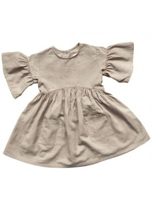 The Simple Folk Baby-Kleid Sage Oatmeal