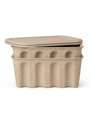 Ferm Living Aufbewahrungskiste Set Paper Pulp Box Small