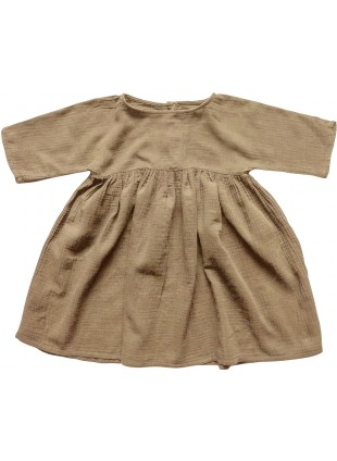 The Simple Folk Baby-Kleid Musselin Camel