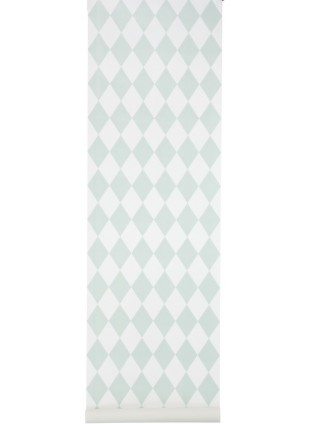 Ferm Living Tapete Harlequin Mint