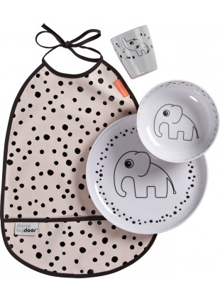 Kinder Geschirr-Set Dinner Happy Dots Rosa von Done by Deer kaufen - Kleine Fabriek