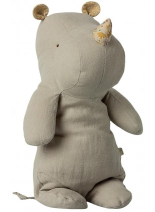 Maileg Kuscheltier Safari Friends Rhino Medium Light Grey