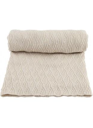 Konges Sløjd Baby-Decke 70x100 cm Pointelle Off-White Melange - Kleine Fabriek