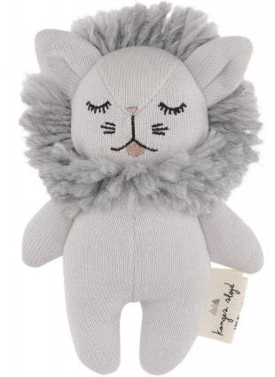 Konges Sløjd Mini Löwe Babyspielzeug Grau Melange