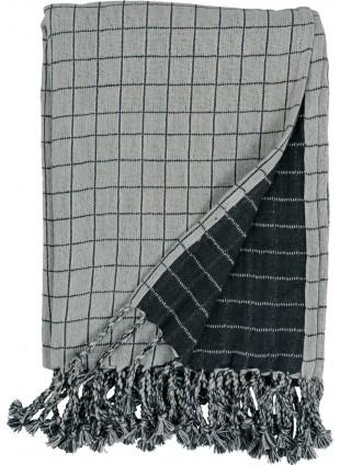 Fabelab Baby-Decke Grid Beige