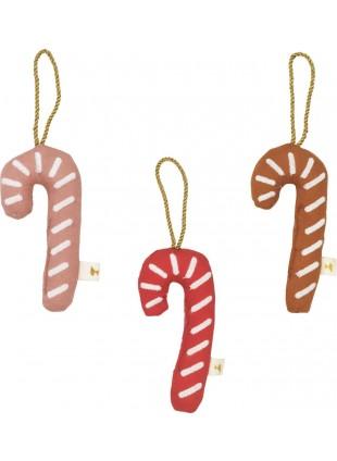 Fabelab Weihnachtsanhänger Baumschmuck Zuckerstangen Set