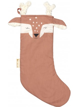 Fabelab Weihnachtsstrumpf Deer Old Rose