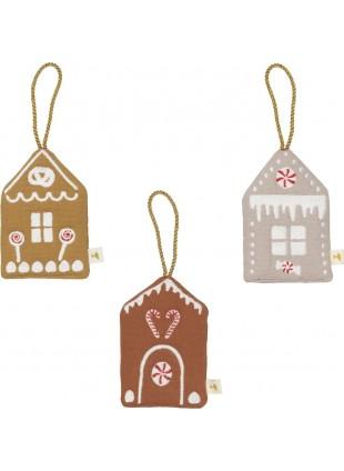 Fabelab Weihnachtsanhänger Baumschmuck Lebkuchenhaus Set