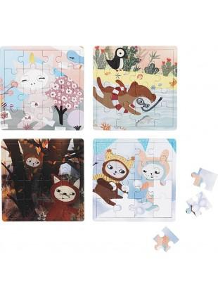 Fabelab Vier Jahreszeiten Puzzle Set