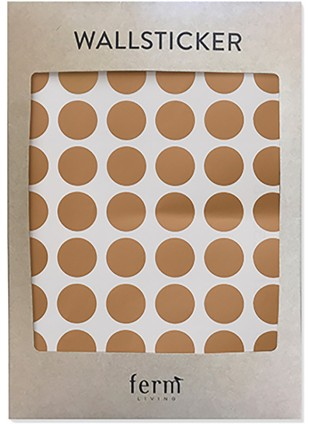 Ferm Living Wand-Sticker Dots Kupfer - Kleine Fabriek