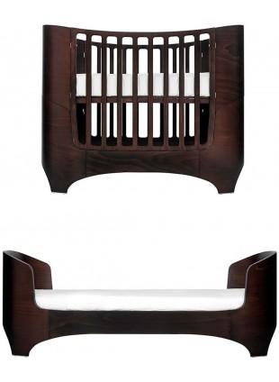 Leander Classic Babybett / Umbaubett Set 0-7 Jahre Walnuss inkl. Matratze
