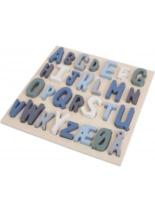 Sebra Steck-Puzzle ABC Königsblau - Kleine Fabriek