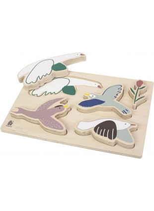 Sebra Steck-Puzzle Singing Birds - Kleine Fabriek