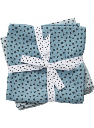 Done by Deer Mullwindel Wrap Windeltücher Set XL Happy Dots Blau