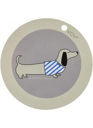 OYOY Kinder Tisch-Set Hund Slinkii
