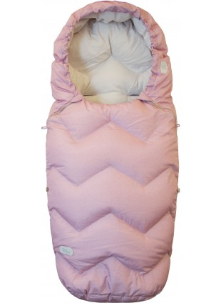 Design by Voksi Kinderwagen-Fußsack Northern Lights Pink - Kleine Fabriek