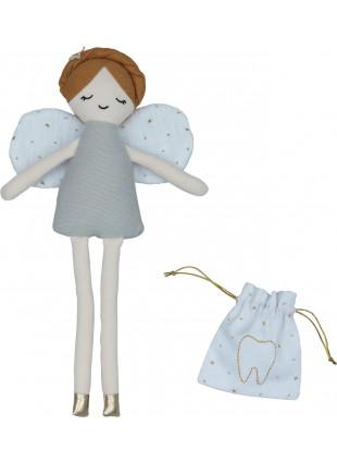 Fabelab Kuscheltier Puppe Zahnfee mit Milchzahnbeutel