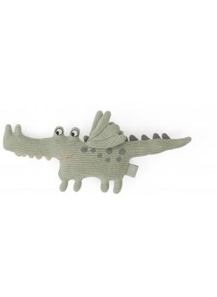 OYOY Rassel Krokodil Buddy Grün