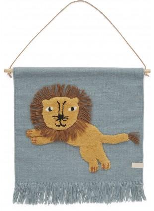 OYOY Wand-Teppich Löwe