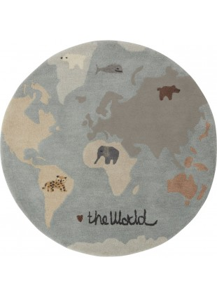 OYOY Kinderzimmer-Teppich The World Multi