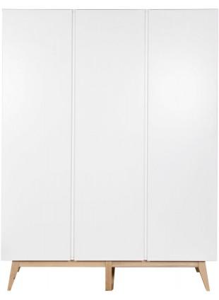 Quax Kleiderschrank 3-türig Trendy Weiß