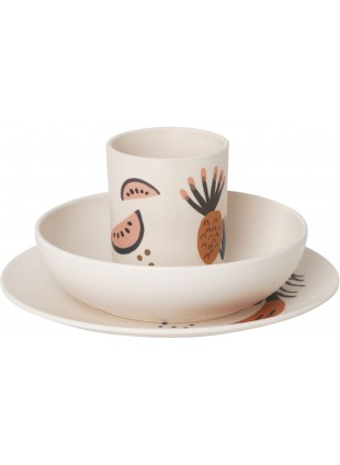Ferm Living Kinder-Geschirr Fruiticana Dinner Set Bambus
