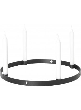 Ferm Living Kerzenhalter Adventskranz Circle Large Schwarz - Kleine Fabriek