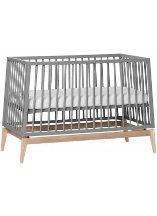 Leander Luna Babybett 60x120 cm Grau - Eiche