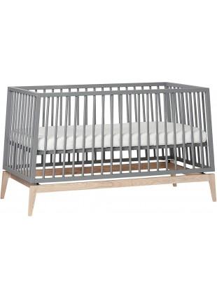 Leander Luna Babybett 70x140 cm Grau - Eiche